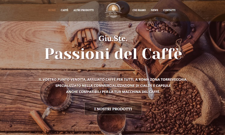 OurWeb Web Agency - Giu.Ste. passioni del caffe