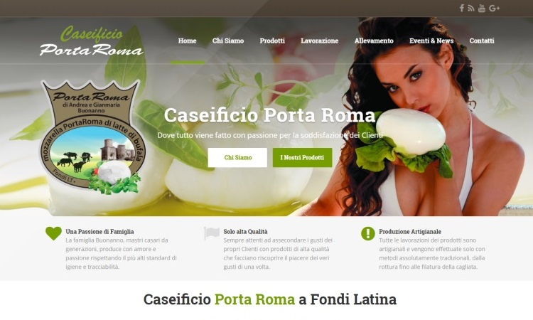 OurWeb Web Agency - Caseificio Porta Roma