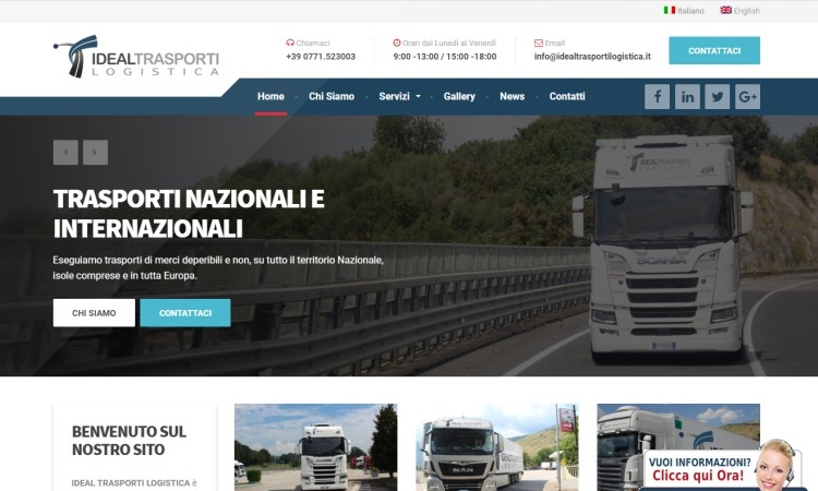 ourweb web agency - idealtrasporti logistica